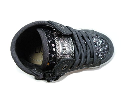 LIU-JO Girl Zapato alta leopardo cremallera gris hembra gris gris