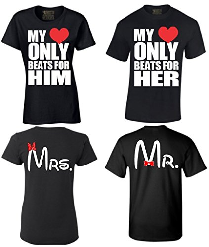 838fc1a9 Couple Shirts My Love Only Beast For Him Her Mr & Mrs Matching Couples T- shirt - Buy Online in KSA. Apparel products in Saudi Arabia.