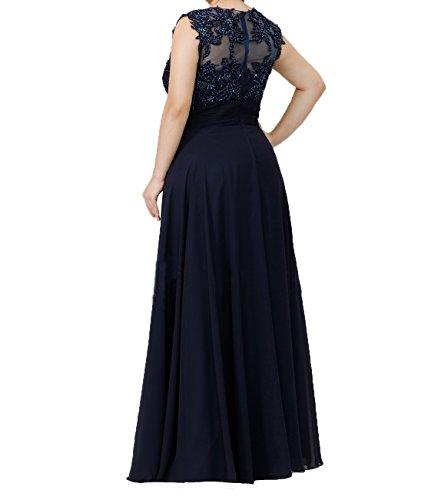 Abendkleider Damen Chiffon Langes Promkleider Partykleider Fuchsia Dunkel Pailletten Charmant Brautmutterkleider mit Perlen wt1pd4q1