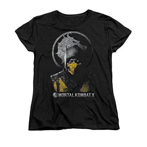Sons of Gotham Mortal Kombat X Scorpion Bust Women's T-Shirt 2XL -