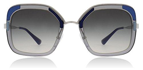(Prada PR57US LMD/130 Transparent Grey PR57US Square Sunglasses Lens Category 2)