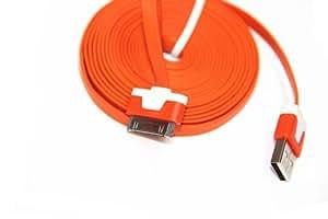 Generic 3 m de largo Cable USB de carga para iphone 4 4S 3 G 3GS ipod luz rojo