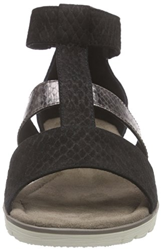 Jana 28600 - Sandalias Mujer Negro - negro
