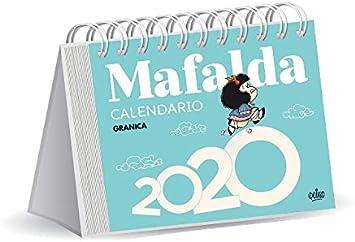 Mafalda 2020 calendario escritorio (azul)