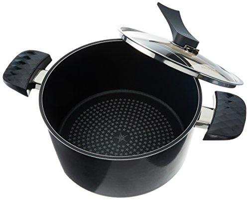 Happycall Nonstick Diamond Pot, 5-Quart, Dark Brown, Dishwas