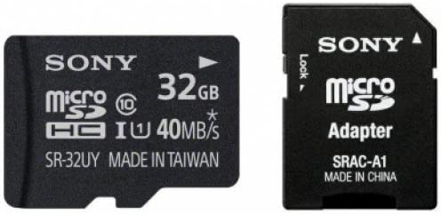 Sony SR32UYA-PHOTODE 32GB Micro SD-Card Memoria Flash ...