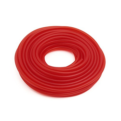 (uxcell 18M Length Red Silicone Vacuum Fuel Gas Hose Tube Pipe 4 x 8mm for Auto Car)