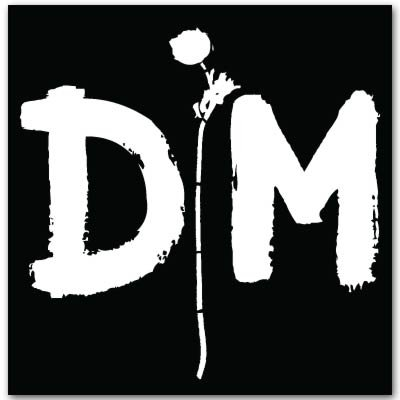 "Depeche Mode DM vynil car sticker 4"" x 4"""