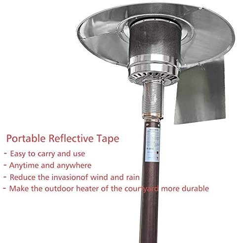 Outdoor Foldable Reflector Shield CoutureBridal Heat Focusing Reflector for Round Natural Gas and Propane Patio Heaters
