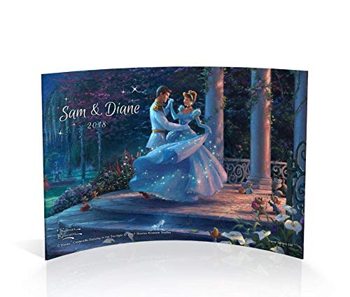 Trend Setters Disney Cinderella Personalized Wedding Year Curved