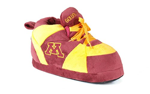 Happy Feet Men's and Womens NCAA College Sneaker Slippers Minnesota Golden Gophers fHLeWR