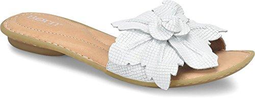 Born Womens - Mai Floral,White Embossed Full Grain Leather,7 B(M) -