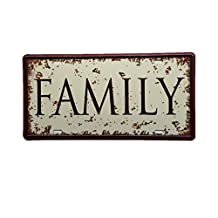 Metal Vintage Tin Plaque Pub Decor Tavern Bar Sign Wall FAMILY Poster Sheet