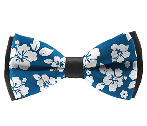 Pre-Tied Classic Bow Ties, Aloha Hawaiian Floral Neck Band Ties Formal Tuxedo Banded Bow Ties For Adults & Children - Suit Accessories, Chrismas New -