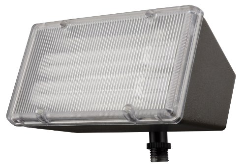 - Lithonia Lighting OFL 213F 120 LP BZ M4 Mini-Flood Light with Two 13-Watt 2700K Compact Quad-Tube Fluorscent Lamps, Black Bronze
