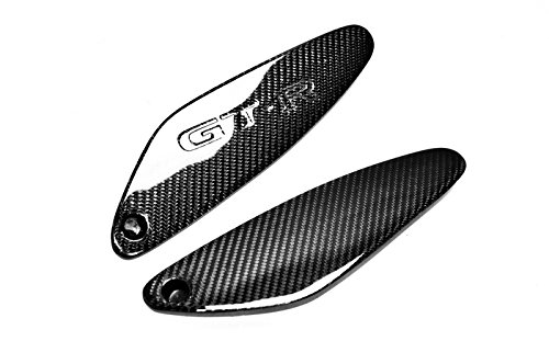 - Carbon Fiber For NISSAN Skyline R33 GTR Rear Spoiler With One Side GTR Logo End Caps Pair