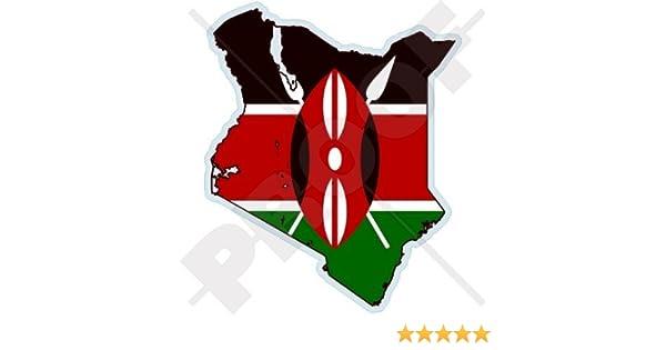"KENYA African Flag car bumper sticker decal 6/"" x 4/"""