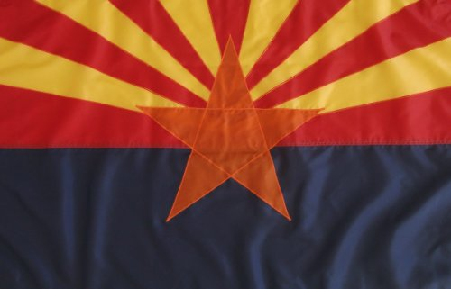 4'X6' Nylon Arizona State Flag - Other Sizes 2'X3', 3'X5' ,