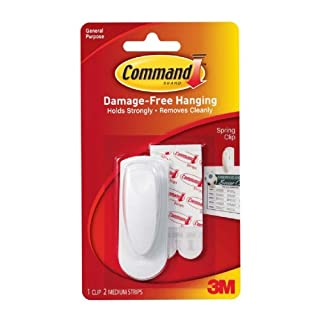 Command Spring Clip 1 Clip And 2 Adhesive (6 Pack)