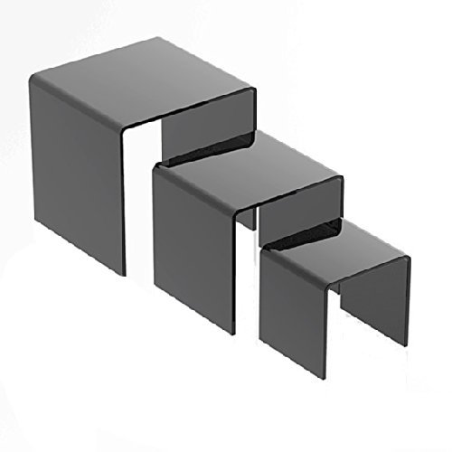 """Price comparison product image Marketing Holders Set of 3 Mirror Riser 3"""", 4"""", 5"""" (Pack of 12)"""
