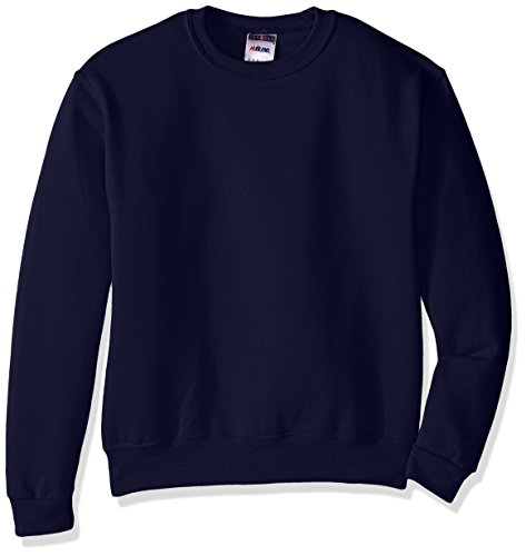 Jerzees Youth Fleece Crew Sweatshirt, J Navy, Large Blue Youth Fleece Crewneck Sweatshirt