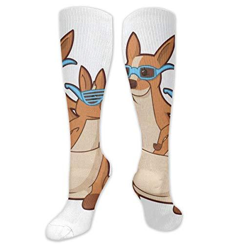 (Compression Socks Two Cute Kangaroos Girls Winter Sock Decoration Tight Stocking for Womens Men Boys)