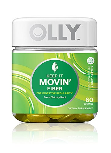 OLLY Keep It Movin' Simply Fiber Gummy Supplements, Snappy Apple, 60 Count