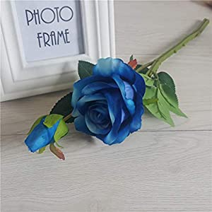 8Pcs Artificial Silk Rose Flower Real Touch Floral Decorations DIY for Home Office Wedding Bouquet Birthday Hotel Garden Party 3