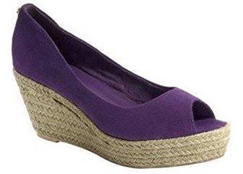 Linea Tesini Womens Pumps Court Shoes Violet - Beere lZ4rAtQN