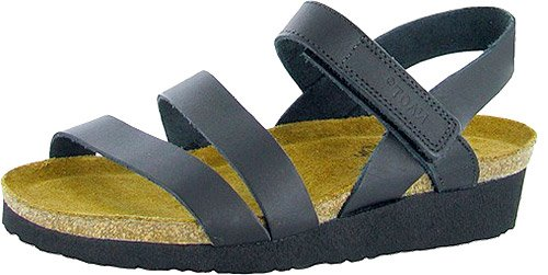 Naot Footwear Women's Kayla Sandal Black Matte Leather 37 M - Charlotte Wedges Leather