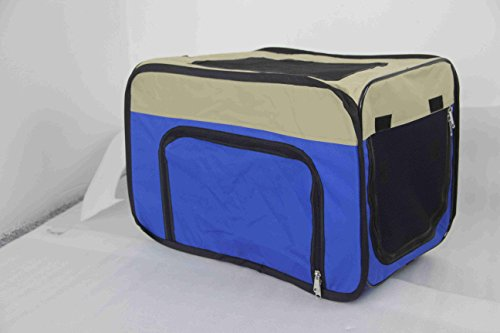 ALEKO PCM013BL Medium Heavy Duty Indoor and Outdoor Portable Pop Up Dog Crate Home Shelter, (Dog Traveling Crates)