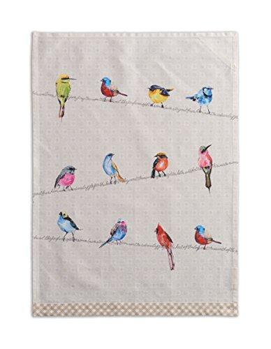Maison Du0027 Hermine Birdies On Wire 100% Cotton Set Of 2 Kitchen Towels, 20    Inch By 27.5   Inch.
