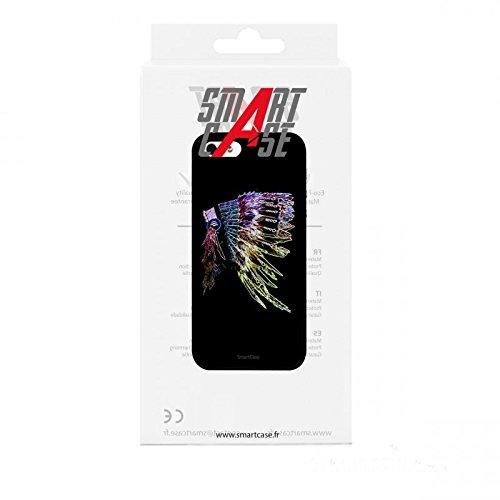 Coque + Verre Trempé pour iPhone 5/5S/SE SmartCase® INDIAN HAT FEATHERS