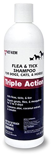 Vet-Kem 013VK01-12 Triple Action Shampoo, 12 Ounce