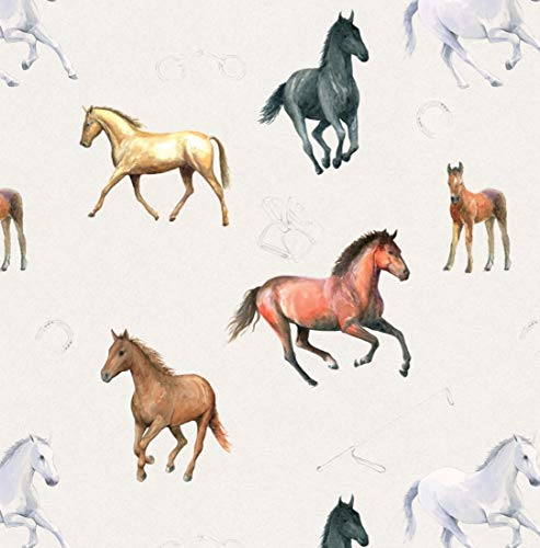 Horse-Gift-Wrapping-Paper-2-Sheets-Plus-2-Gift-Tags