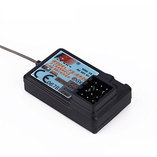 (Upgraded Waterproof Flysky FS-GR3E 2.4G 3CH Receiver DC 5V for FS-GT2 FS-GT2B FS-GT3B FS-GT3C FZ-IT4S RC Car Boat Transmitter)