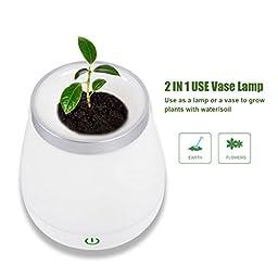 Ohuhu LED Night Light with Touch Sensor, 3 Brightness Level 2 in 1 Vase Table Lamp Nursery Light