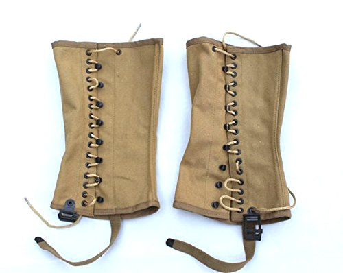 COLLECTABLE ONE PAIRS WWII US ARMY SOLDIER CANVAS PANTS GAITER LEGGINGS PUTTEE by Unbranded*