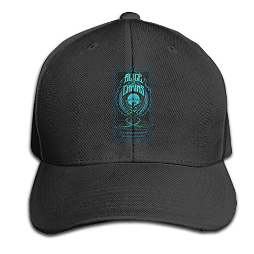 Ougou Alice in Chains Trucker Baseball Cap Adjustable Peaked Sandwich Hat Black One Size - Hat Ball And Chain