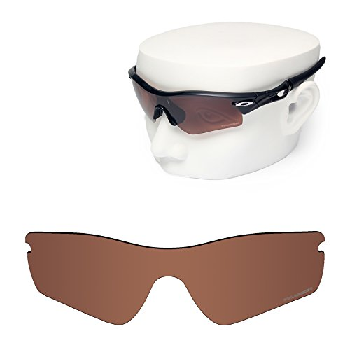 OOWLIT Replacement Sunglass Lenses for Oakley Radar Path Brown Polycarbonate Combine8 Polarized by OOWLIT