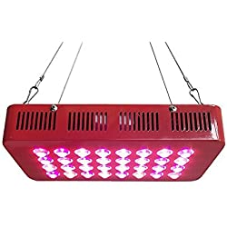 "300W LED Grow Light Full Spectrum for Hydroponic Indoor Plants Growing Veg and Flower perfect for 24""x24""x48""and 48""x24""x60"" grow tent kit and package"