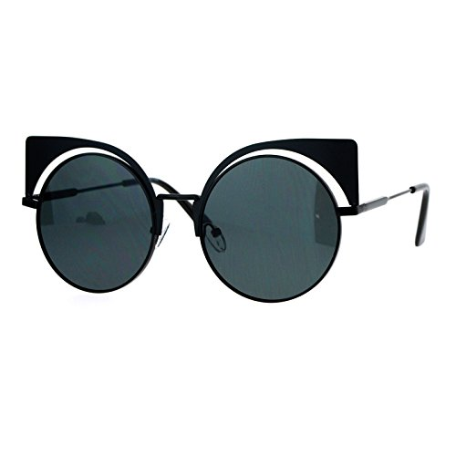 SA106 Unique Runway Round Circle Lens Cateye Goth Sunglasses - Goth Sunglasses