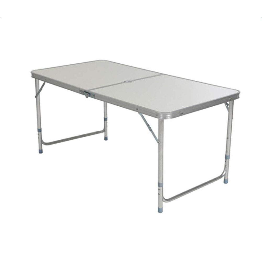 Amazon Com Lykos 4 Ft Folding Table Portable Multipurpose Folding Table Indoor Outdoor Picnic Party Dining Camping Table White Garden Outdoor