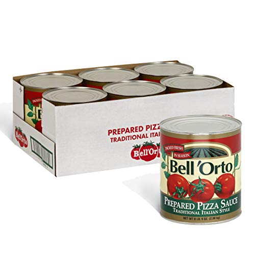 Bell'Orto Prepared Traditional Italian Style Pizza Sauce (6.9 lbs Cans, Pack of 6) (Prepared Pizza)