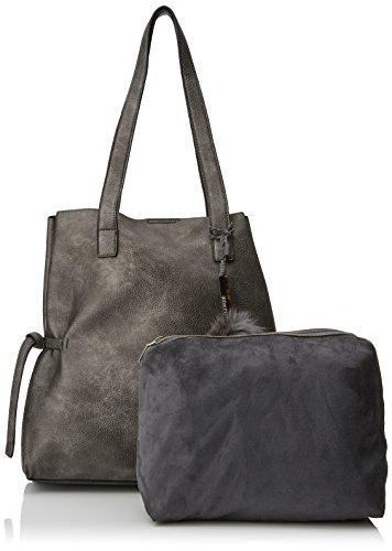 x H Abbacino Tina Plateado Silver x cm Shopper Mujer para 17x35x45 L W 0pf8w0