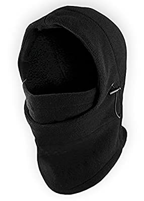 Balaclava Fleece Hood & Ski Mask - Heavyweight Cold Weather Winter Motorcycle, Ski & Snowboard Gear - Ultimate Protection from the Elements
