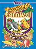 FM Brown Tropical Carnival – Cockatiel, Love Bird and Small Parrot – 2 lbs, My Pet Supplies