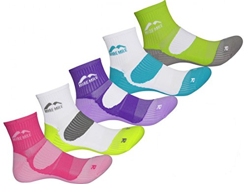 More Mile Womens Limited Edition 5 Pair Pack London Running Socks