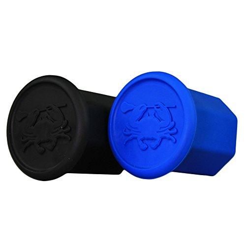 East Coast Dyes (2-Pack) High Performance Lacrosse Shaft End Caps Black and Royal Blue End-Cap-Blk-RylBlu-2P (End Blue Royal)