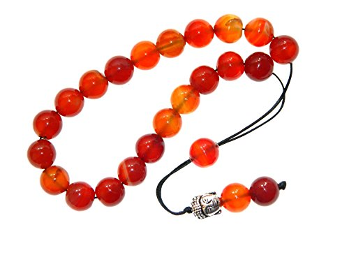 A2-0507 - Loose String Greek Komboloi Prayer Beads Worry Beads 10mm Natural Agate ()